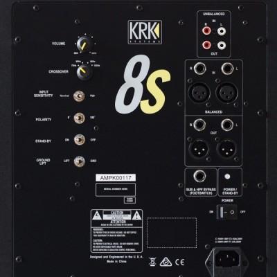 KRK KRK 8 S2 SUBWOOFER AMPLIFICATO DA 109 W NUOVO GARANZIA UFFICIALE