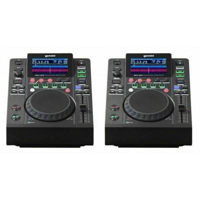GEMINI MDJ 600 2PZ USB MP3 COPPIA MEDIA PLAYER MIDI 24 BIT GARANZIA UFFICIALE